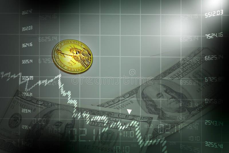 Diagramma del mercato azionario illustrazione di stock