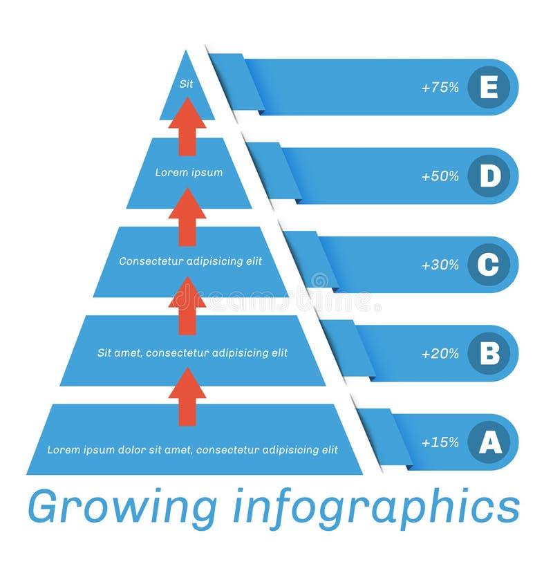 Diagramma della piramide con le frecce illustrazione vettoriale