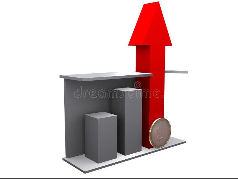 Diagramma di affari illustrazione vettoriale