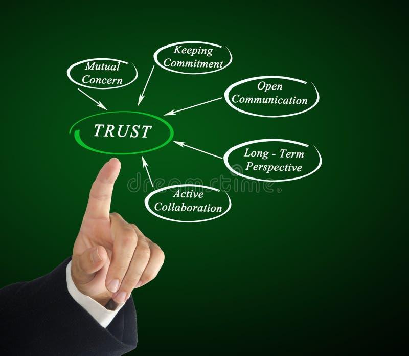 Diagramma di fiducia immagine stock