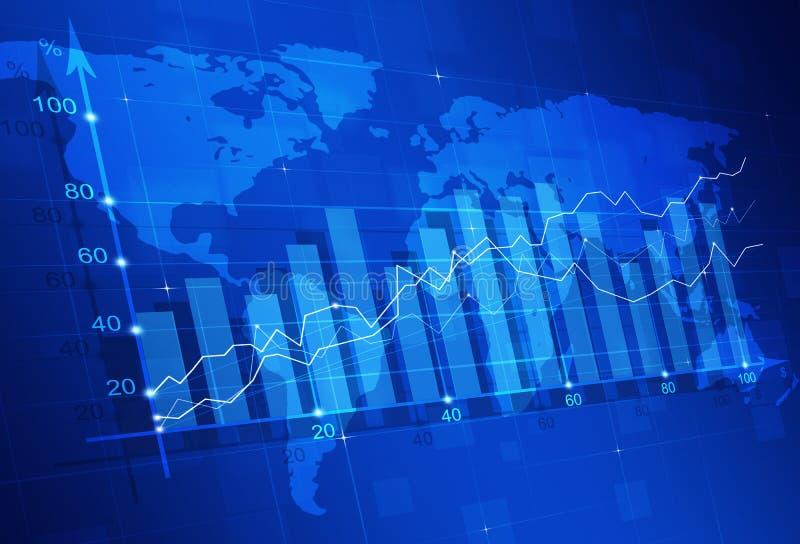 Diagramma di finanza del mercato azionario fotografia stock
