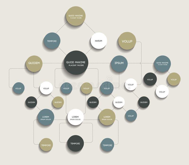 Diagramma di flusso, organigramma infographic illustrazione vettoriale