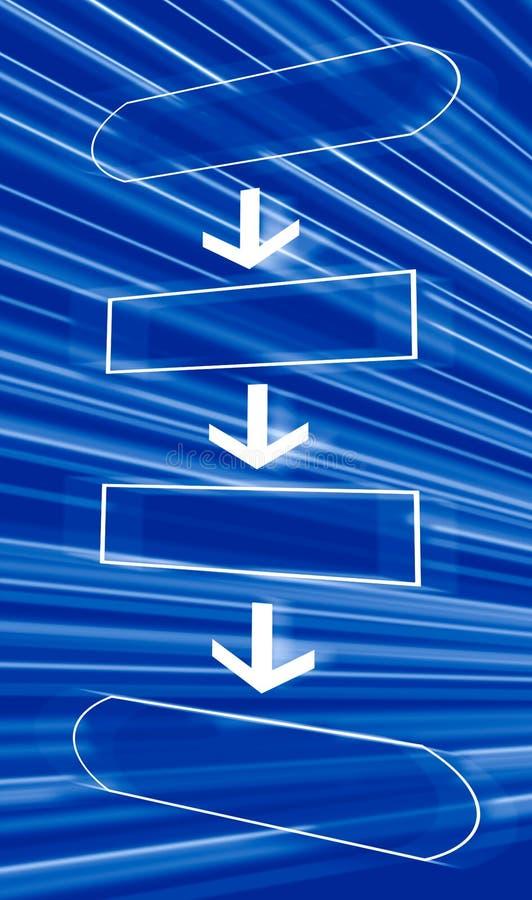 Diagramma di flusso vuoto royalty illustrazione gratis