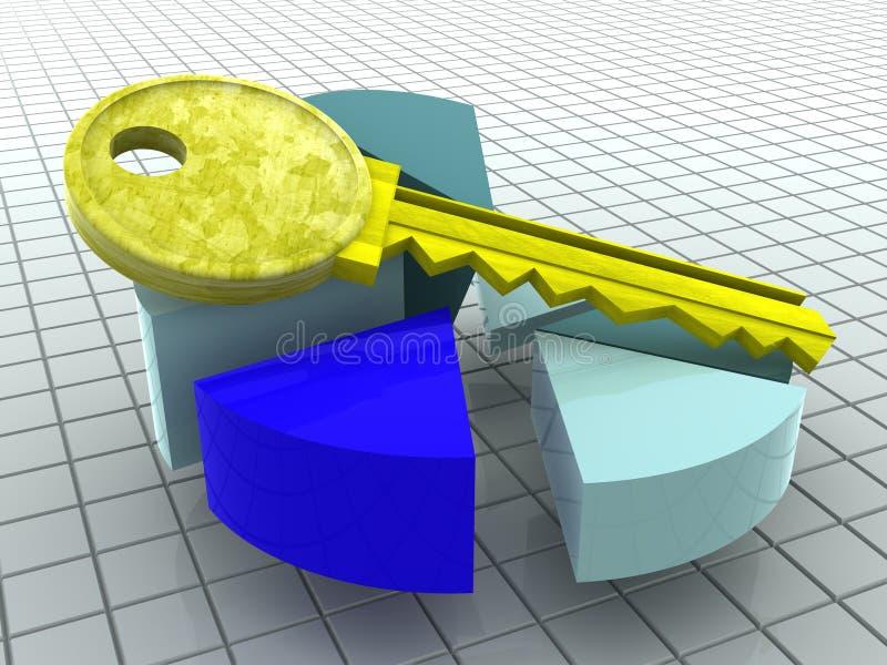 Diagramma e tasto. illustrazione di stock