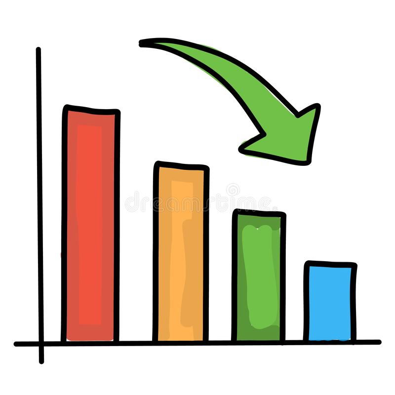 Diagramma gi? Illustrazione di vettore illustrazione vettoriale