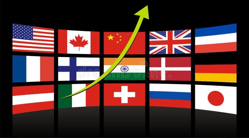 Diagramma globale di successo illustrazione vettoriale