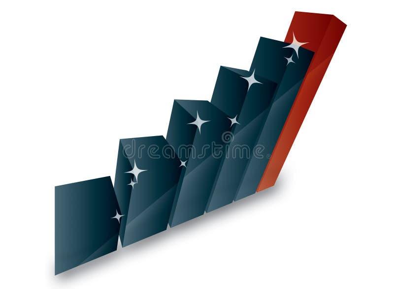 Diagramma lucido di vendita di affari 3d illustrazione vettoriale