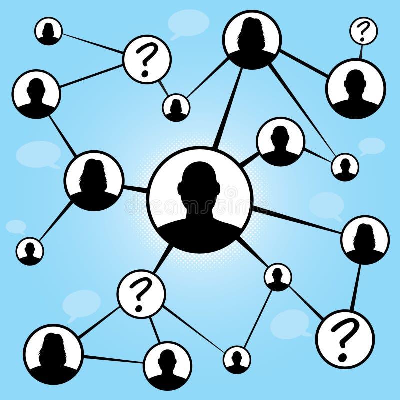 Diagramma sociale degli amici di media royalty illustrazione gratis