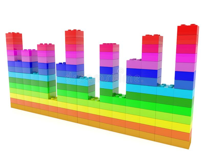 Diagramma sviluppato dai mattoni del giocattolo illustrazione vettoriale