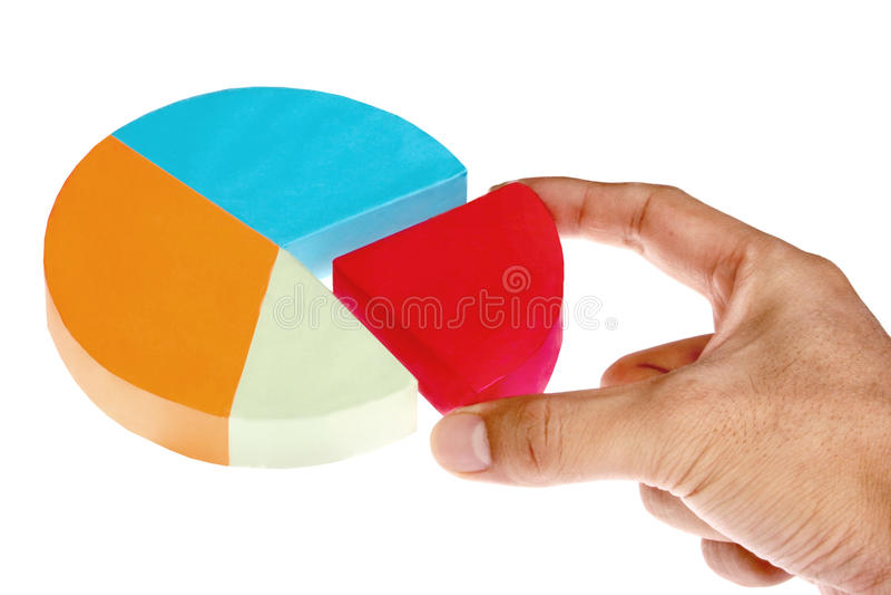 Diagramma a torta immagini stock