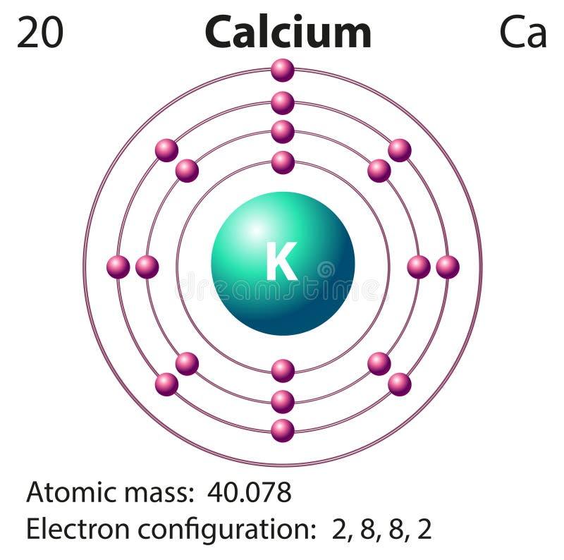 Diagrammdarstellung des Element clacium lizenzfreie abbildung