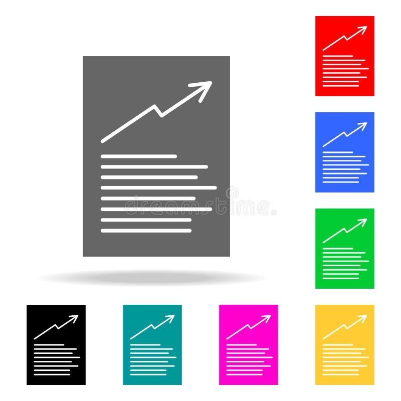 Diagrammdokumentenikonen Elemente von menschliches Netz farbigen Ikonen Erstklassige Qualitätsgrafikdesignikone Einfache Ikone fü vektor abbildung