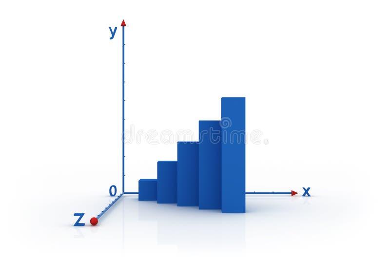 diagramme à barres 3d photographie stock