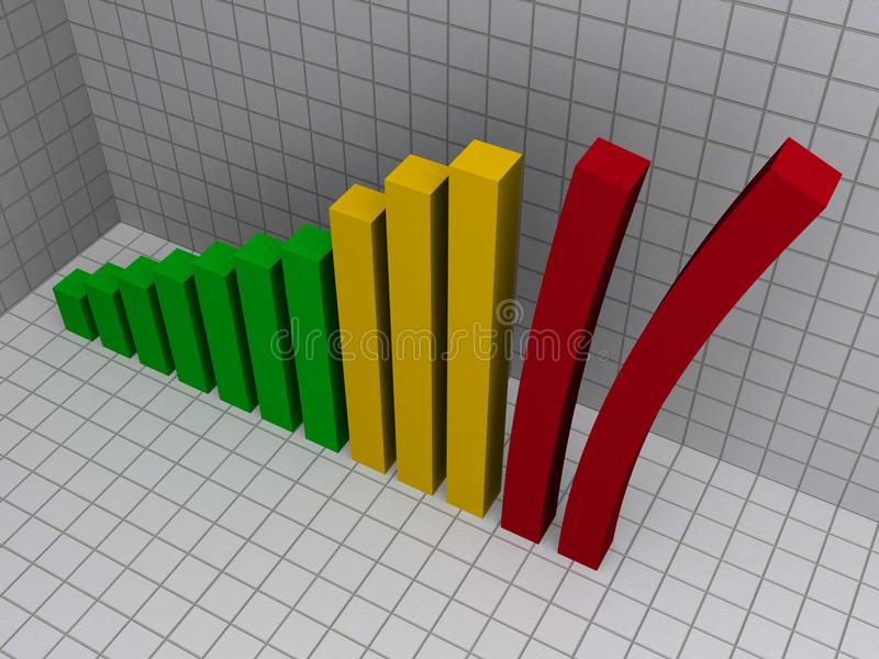 Diagramme à barres 3D de penchement illustration libre de droits