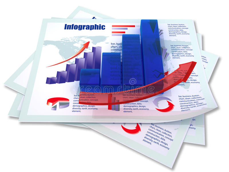 Diagramme à barres croissant bleu illustration libre de droits