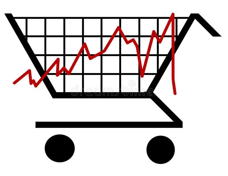 Diagramme à barres d'achats illustration libre de droits