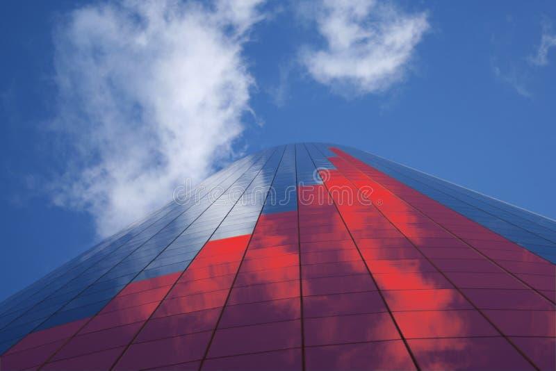 Diagramme à barres sur le gratte-ciel illustration de vecteur