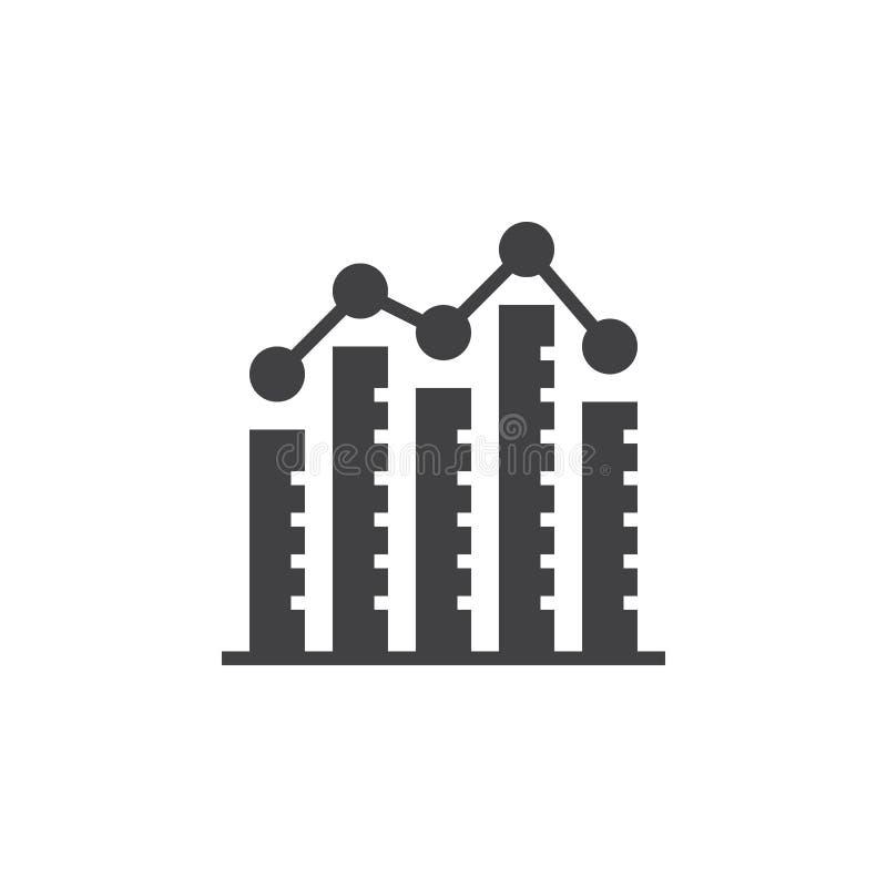Diagramme à barres vecteur d'icône de diagramme de colonne, signe plat rempli, PIC solide illustration stock