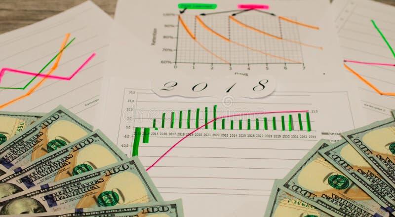 Diagramme abstrait de forex sur le fond Concept financier d'accroissement Double exposition image libre de droits
