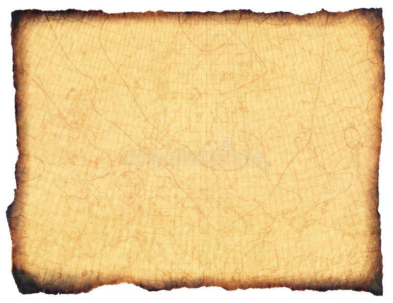 Diagramme antique 1910 de mer de parchemin