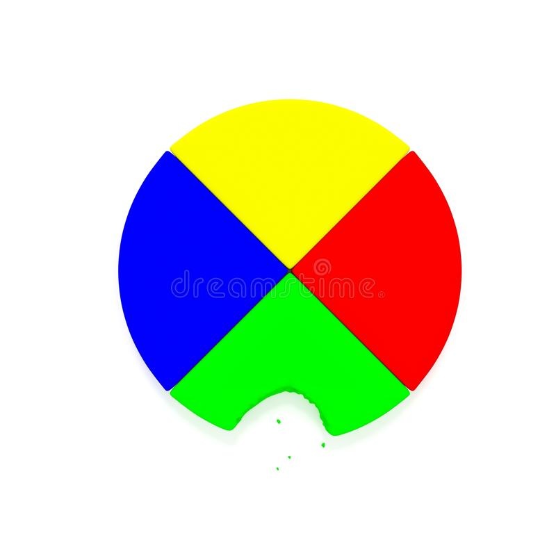 Diagramme circulaire images stock