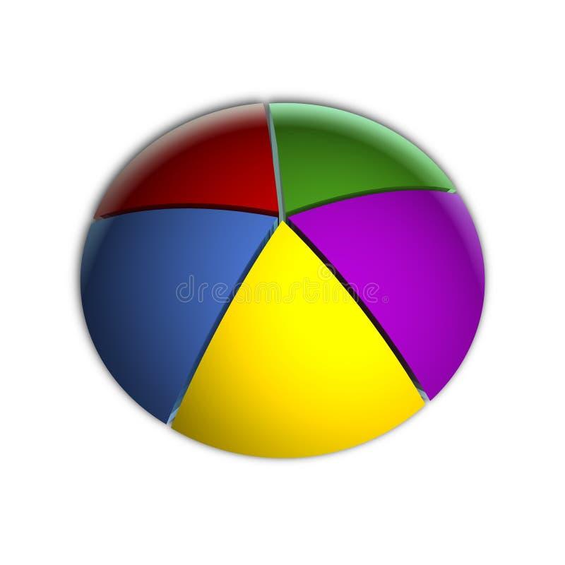 Diagramme circulaire d'affaires de 20% illustration libre de droits