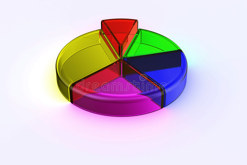 Diagramme circulaire en verre illustration stock