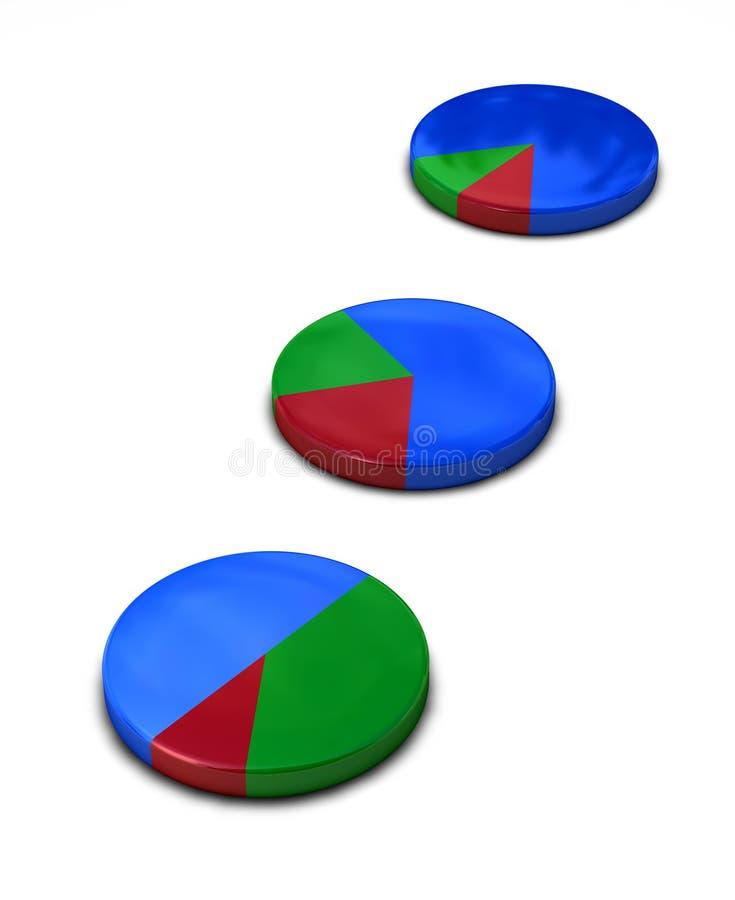 Diagramme circulaire métallique illustration stock