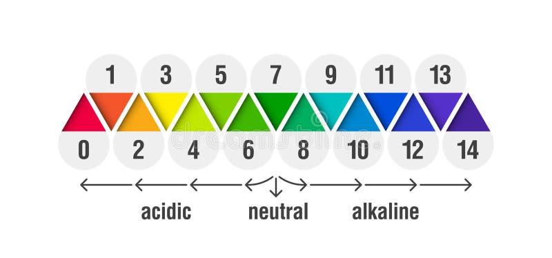 Diagramme d'échelle de valeur du pH illustration de vecteur