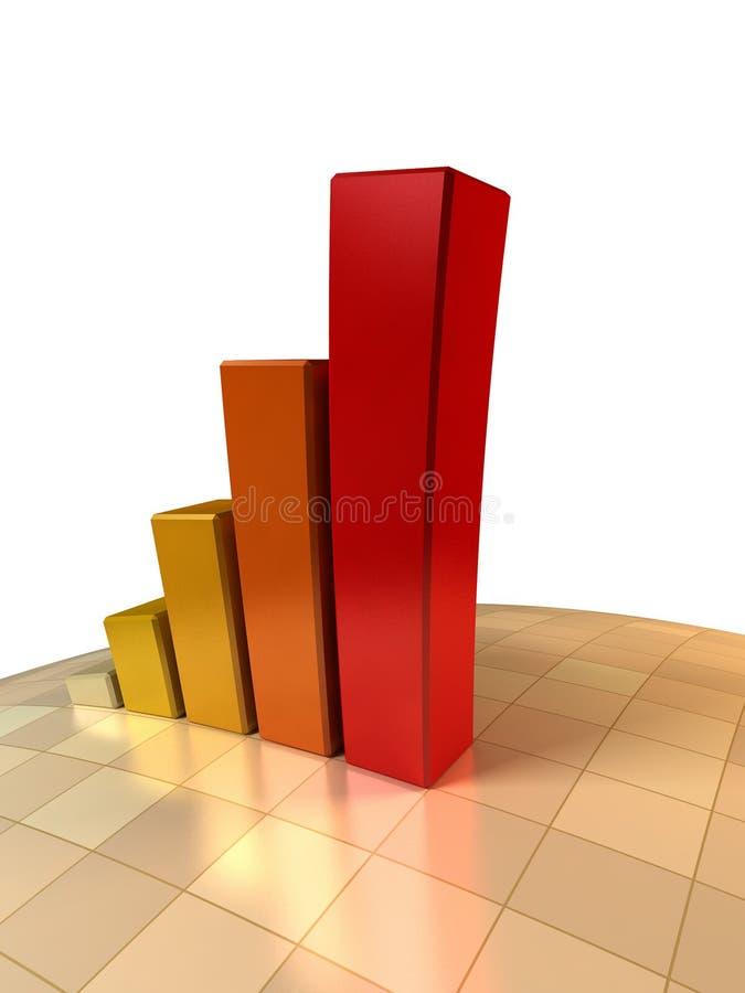 diagramme d'accroissement 3d illustration libre de droits