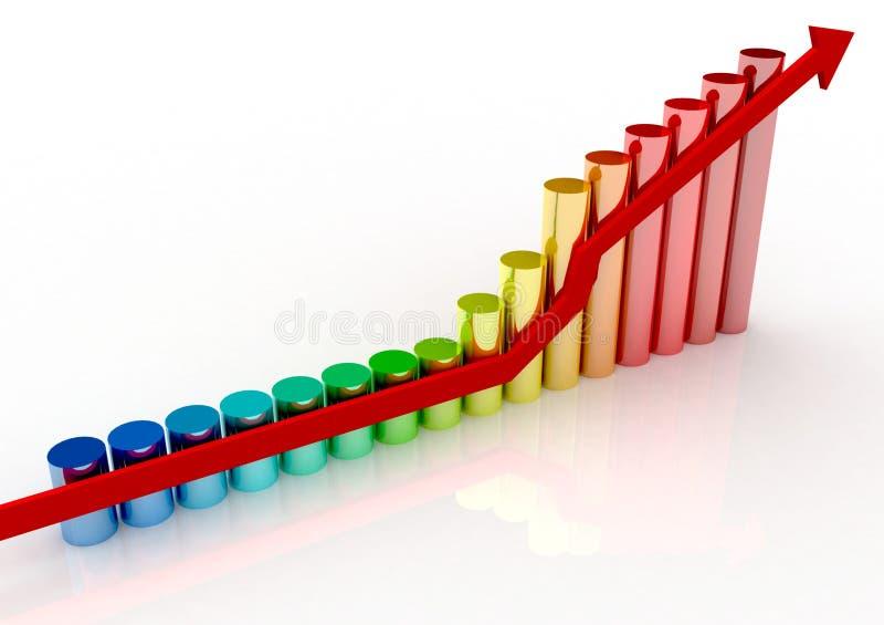 Diagramme d'accroissement illustration libre de droits
