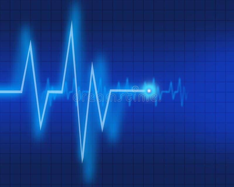 Diagramme d'EKG illustration stock