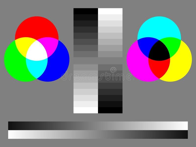 Diagramme d'essai de couleur images libres de droits