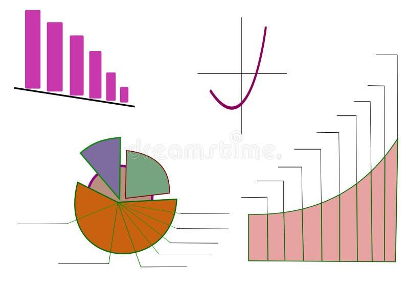 Diagramme d'illustration de vecteur photo stock