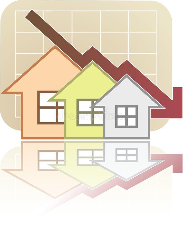 Diagramme d'immeubles vers le bas illustration libre de droits