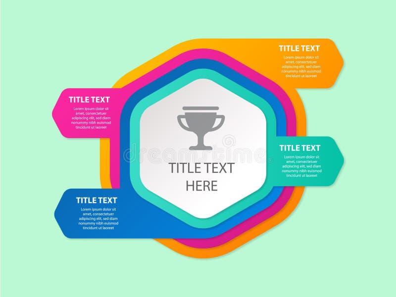 Diagramme d'Infographic avec des étapes, des options, des pièces ou des processus Diagramme de processus - Le fichier du vecteur illustration libre de droits