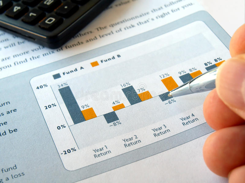 Diagramme d'investissement photo stock