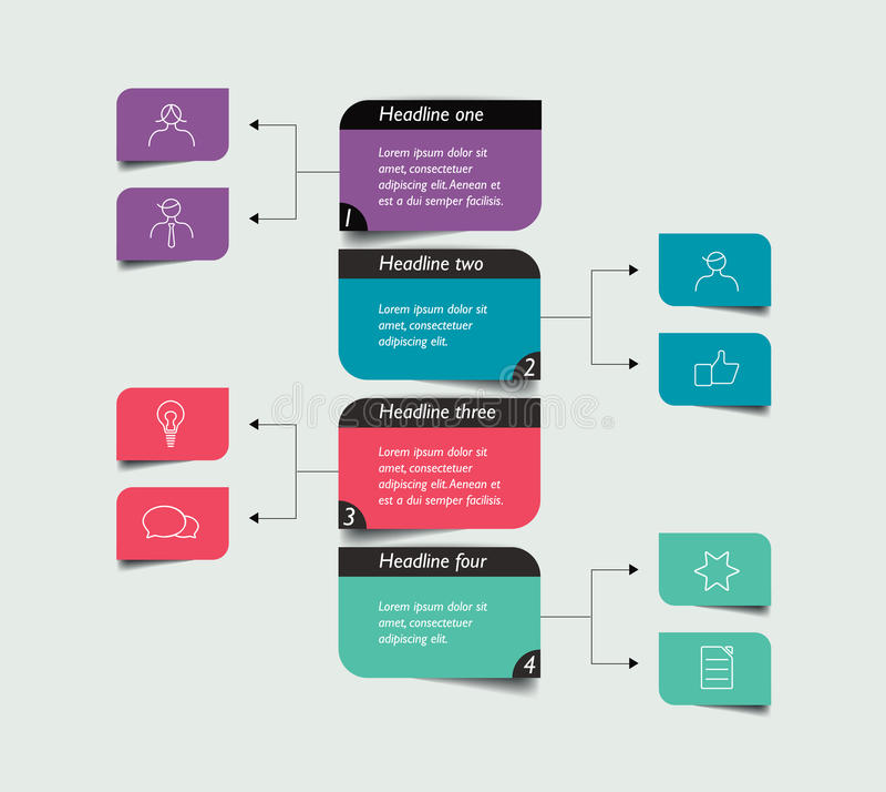 Diagramme d'organigramme, plan illustration stock