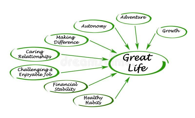 Diagramme d'une grande vie illustration de vecteur