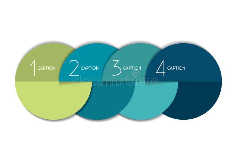 diagramme de bulle d'élément de 4 étapes, plan, diagramme, calibre illustration de vecteur
