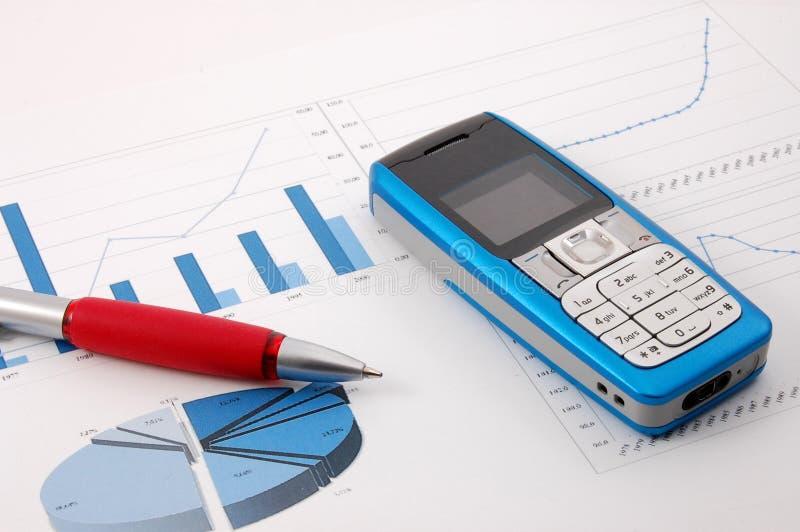 Download Diagramme De Cellules D'affaires Au-dessus De Téléphone Photo stock - Image du marché, économie: 8650130