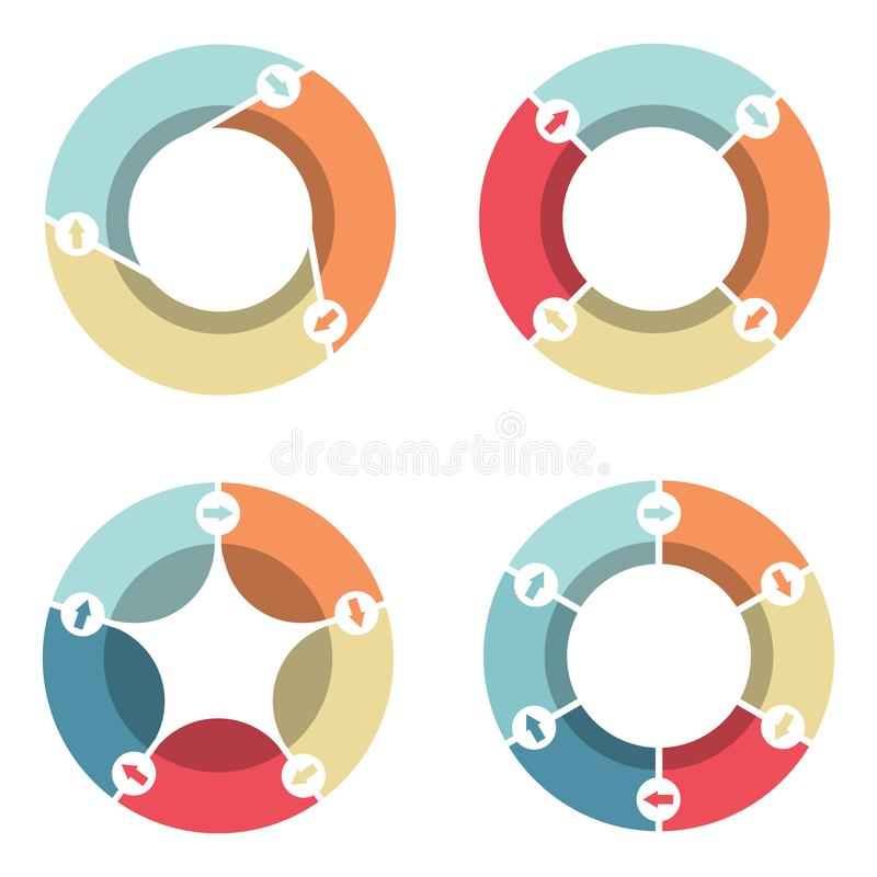 Diagramme de cercle infographic pour des présentations, la publicité, dispositions, repo annuel illustration stock