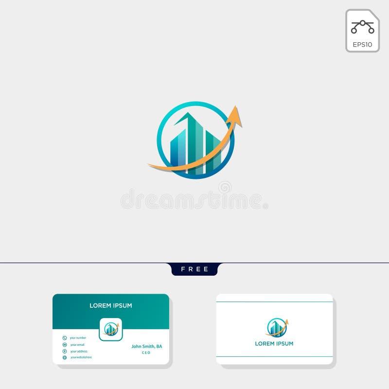 diagramme de comptabilité de finances, ou immobiliers, illustration de vecteur de calibre de logo d'appartement et inspiration cr illustration de vecteur