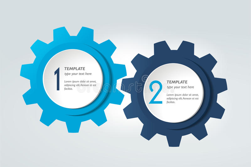 Diagramme de deux éléments, plan, diagramme Descripteur d'Infographic illustration stock