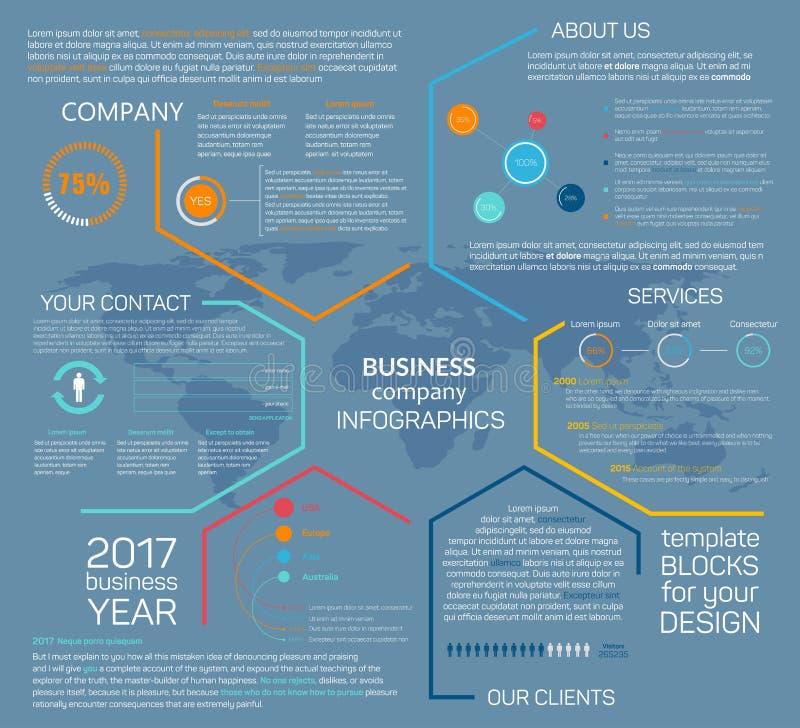 Diagramme de diagramme d'infographics de vecteur de société commerciale illustration libre de droits