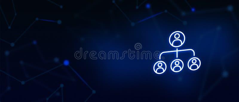 Diagramme de direction, organigramme, concept de pyramide de hiérarchie, bannières, graphiques de site Web, page de débarquement, image stock