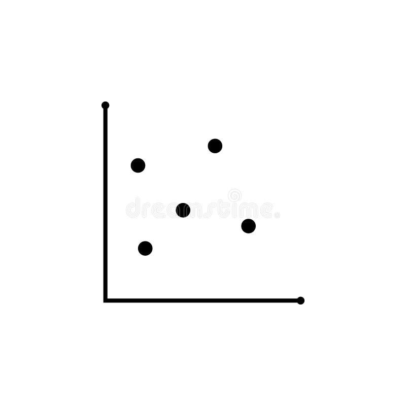 Diagramme de dispersion et icône de graphique Icône d'élément de diagramme de tendance Icône de conception de l'avant-projet d'an illustration stock