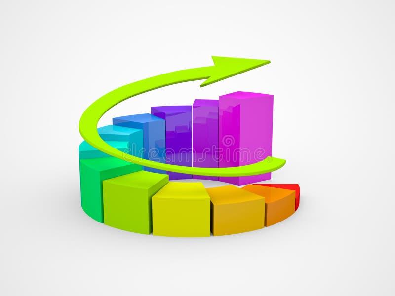 Diagramme de finances d'affaires, tableau, dessin illustration stock