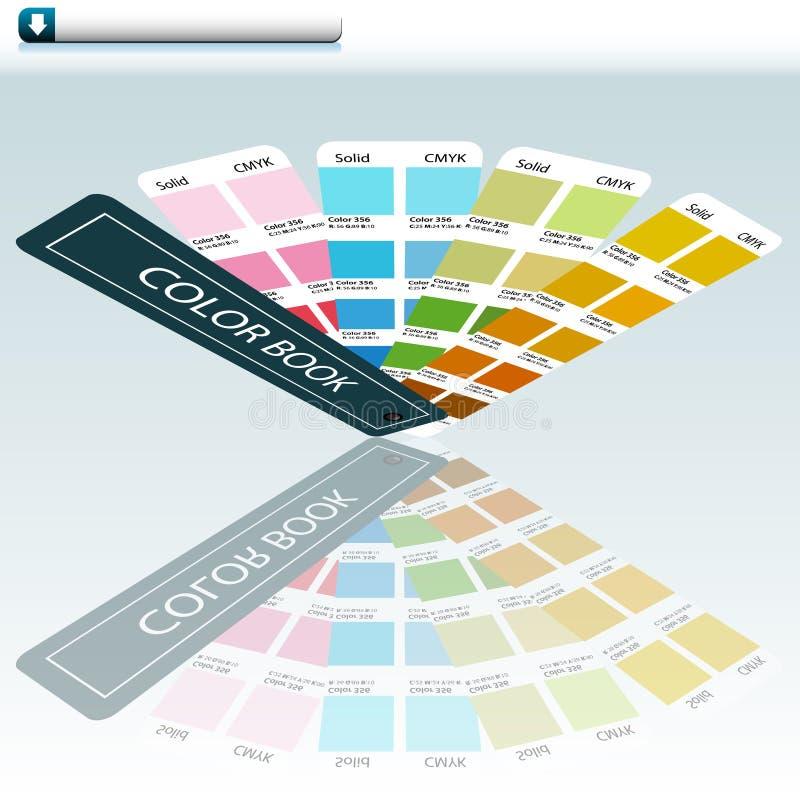 Diagramme de guide de couleur illustration de vecteur