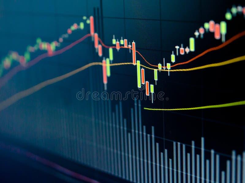 Diagramme de marché boursier photographie stock libre de droits
